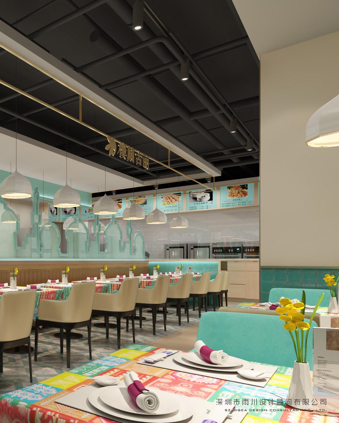 樓蘭古麗(立豐國際shi)輳┌can)廳設計效果圖